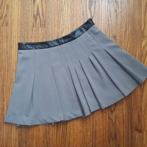 W118 Walter Baker Pleated Skirt Faux Leather
